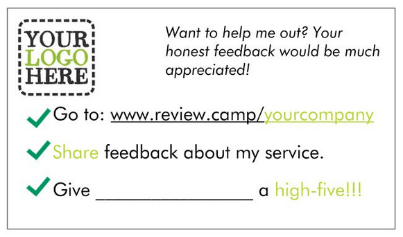review camp card