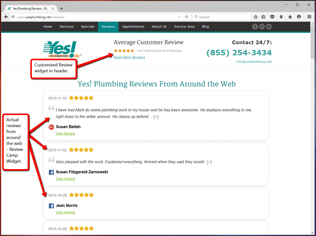 Customer Review Widget