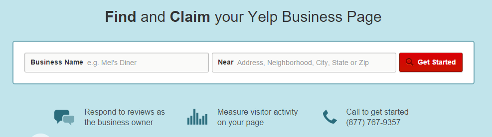 Find business listing Yelp!